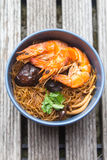 Baked Shrimp Vermicelli Stock Photography