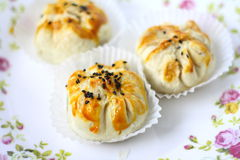 Baked Siew Pau-Chinese Cake Royalty Free Stock Photo