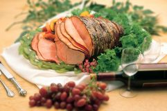 Baked sliced ham Stock Image