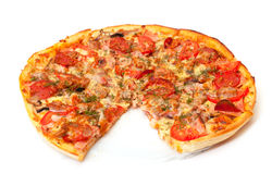 Baked Sliced Pizza Royalty Free Stock Images