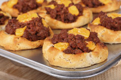 Baked Sloppy Joe Biscuits Stock Images