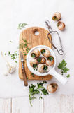 Baked snails stock image