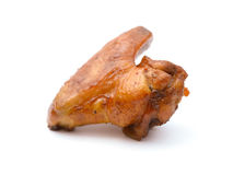 Baked in soy sauce chicken wings on white Stock Image