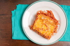 Baked spaghetti casserole Royalty Free Stock Images