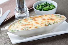 Baked Spinach with Cheese Royalty Free Stock Photography
