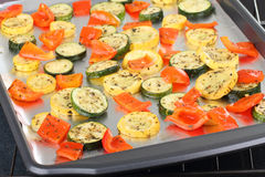 Baked Squash and Peppers Royalty Free Stock Image