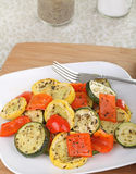 Baked Squash and Peppers Royalty Free Stock Images