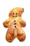 Baked St Nicholas. With crawnberries as eyes, mouth and knobs, isolated Stock Images