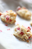 Baked strawberry drop biscuits Stock Photos