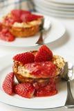 Baked Strawberry Ricotta Dessert Stock Image