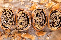 Baked strudel Royalty Free Stock Image