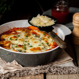 Baked Stuffed Conchiglioni with Tomato Royalty Free Stock Photos