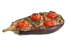 Baked Stuffed Eggplant Stock Photos