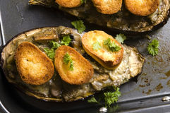 Baked stuffed eggplant Royalty Free Stock Image
