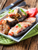 Baked stuffed eggplant Royalty Free Stock Photos