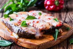 Baked stuffed eggplant Royalty Free Stock Photo