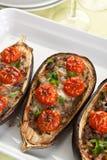 Baked Stuffed Eggplants Royalty Free Stock Images