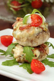 Baked stuffed mushrooms Stock Images