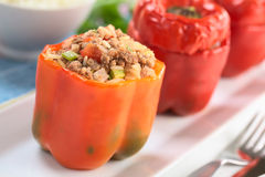Baked Stuffed Pepper Stock Photos
