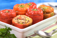 Baked Stuffed Pepper Royalty Free Stock Photo