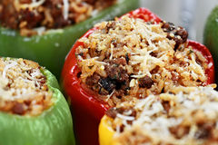 Baked Stuffed Peppers Stock Image