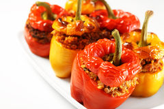 Baked stuffed peppers Royalty Free Stock Photo