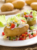 Baked stuffed potato Stock Images