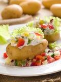 Baked stuffed potato Stock Images