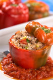 Baked Stuffed Red Bell Pepper Royalty Free Stock Images