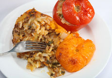 Baked stuffed vegetables greek style Royalty Free Stock Images