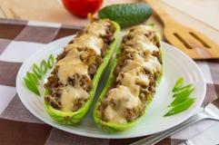 Baked stuffed zucchini Stock Image