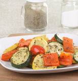 Baked Summer Squash and Peppers Royalty Free Stock Photography