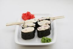 Baked sushi rolls Royalty Free Stock Images