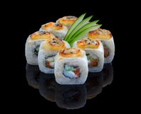 Baked Sushi Set Royalty Free Stock Images