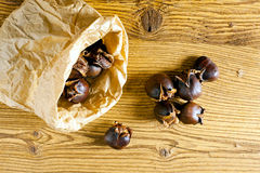 Baked sweet chestnuts Royalty Free Stock Photo
