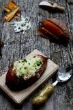 Baked  sweet potatoes Stock Photo
