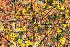 Baked tasty pizza Stock Image