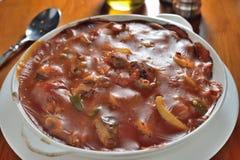 Baked tomato pork Stock Image