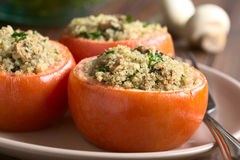 Baked Tomato Stuffed with Quinoa and Mushroom Royalty Free Stock Image