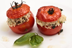 Baked Tomato Stuffed With Rice Royalty Free Stock Photos