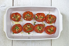 Baked tomatoes Stock Photo