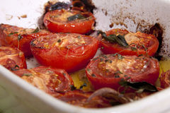 Baked tomatoes. Royalty Free Stock Image