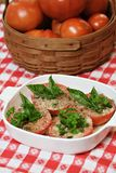 Baked Tomatoes in Dish Stock Photography