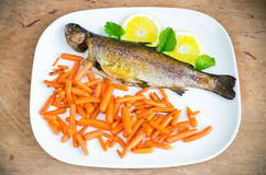 Baked trout Royalty Free Stock Photo