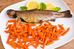 Baked trout Stock Photo