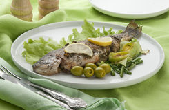 Baked trout Royalty Free Stock Photography
