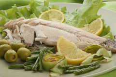Baked trout Stock Photography