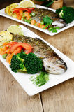 Baked trout Stock Images