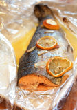Baked trout Royalty Free Stock Image