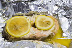 The baked trout Royalty Free Stock Images